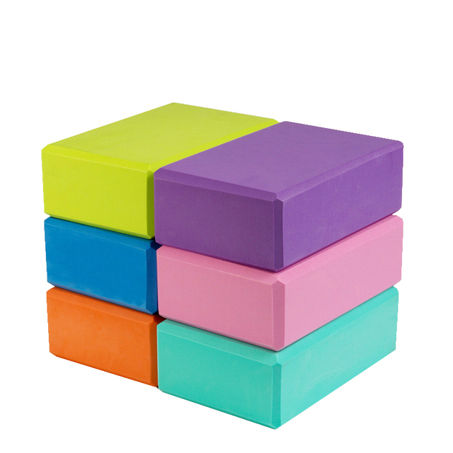 10Colors EVA Yoga Block Brick 120g Sports Exercise Gym Foam Workout Stretching Aid Body Shaping Health Training Fitness Sets T 1