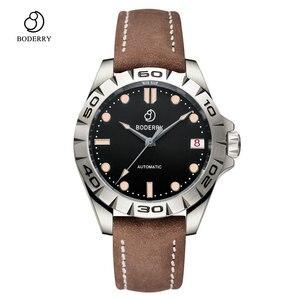Image 5 - טיטניום מקרה 2020 יוקרה גברים שעונים של אוטומטי מכאני עמיד למים לוח שנה תאריך זוהר שעון שעון גברים Relogio Masculino