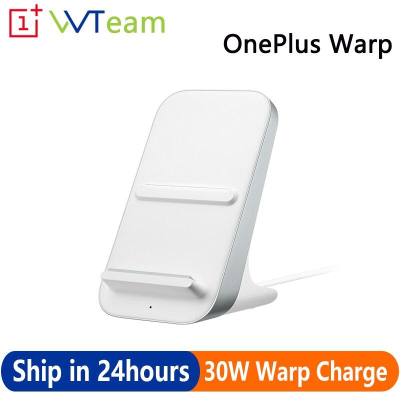 Original oneplus warp carga 30 carregador sem fio inteligente modo de hora de dormir qi/epp refrigerar ar ar 5w/10w/30w para oneplus 8 pro