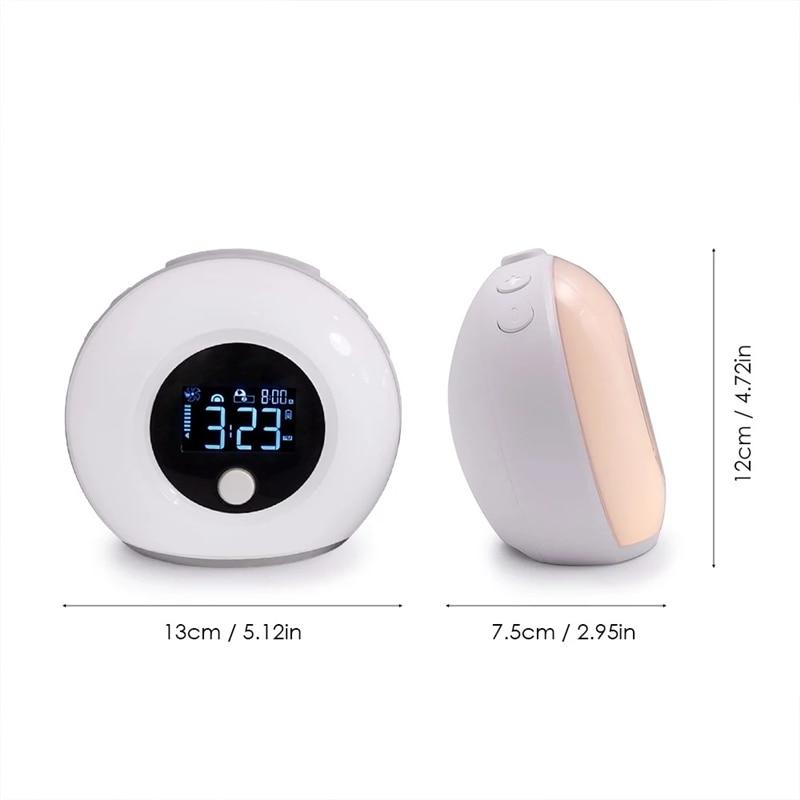 5 Вт Светодиодный умный сенсорный Ночной светильник Будильник Зарядка через usb цветной bluetooth музыкальный динамик с ЖК цифровым дисплеем времени Рабочий стол