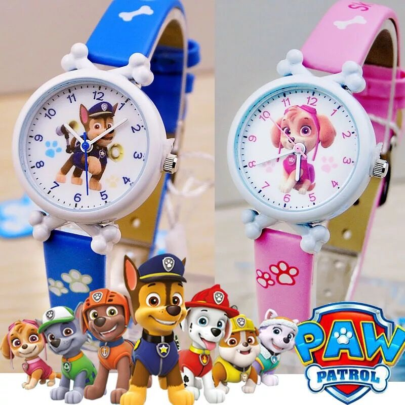 Paw Patrol Digital Watch Time Develop Intelligence Learn Dog Everest Anime Figure Patrulla Canina Toy Of Children Gift No Plush