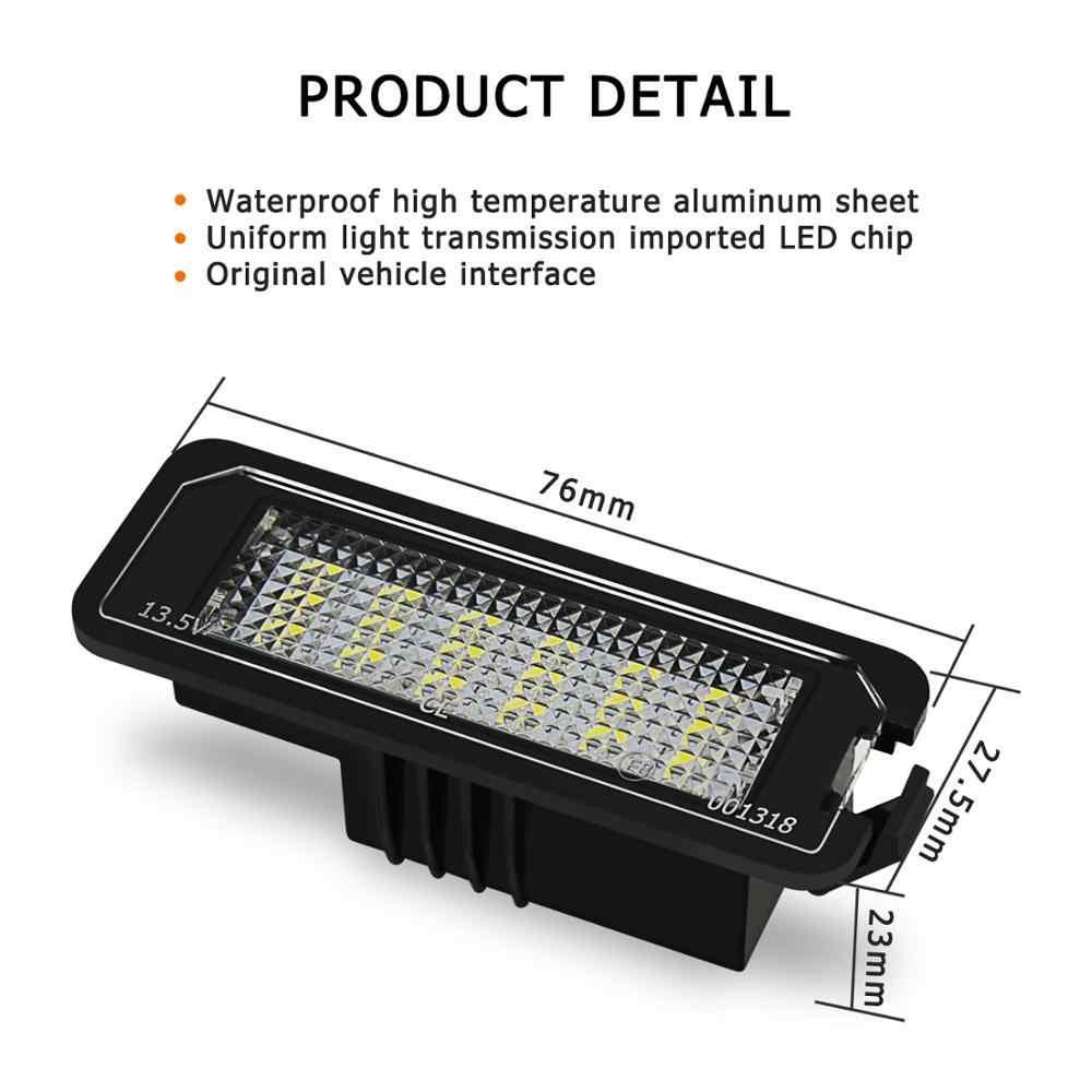 2 قطعة 18SMD خطأ مجاني LED رقم الترخيص لوحة ضوء مصابيح للجولف MK4 MK5 MK6 باسات بولو CC Eos Scirocco رقم الترخيص لوحة
