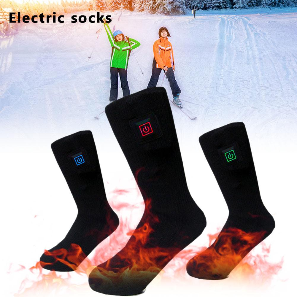 Thick Warm Socks Heated Electric Socks Rechargeable Battery Winter Outdoor Skiing Cycling Sport Warm Socks For Women And Men
