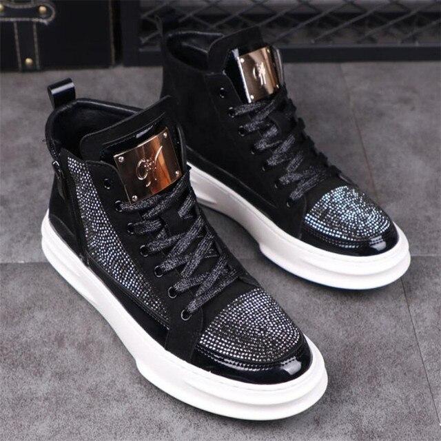 Zapatos informales transpirables para hombre, zapatillas planas de estilo Hip Hop Punk, a la moda, novedad de 2020 5