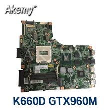 4GB NTSN1521 REV1.1 Laptop Motherboard FOR Hasee T6 K660D Notebook PC mainboard with N16P-GX-A2 GTX 960M video card