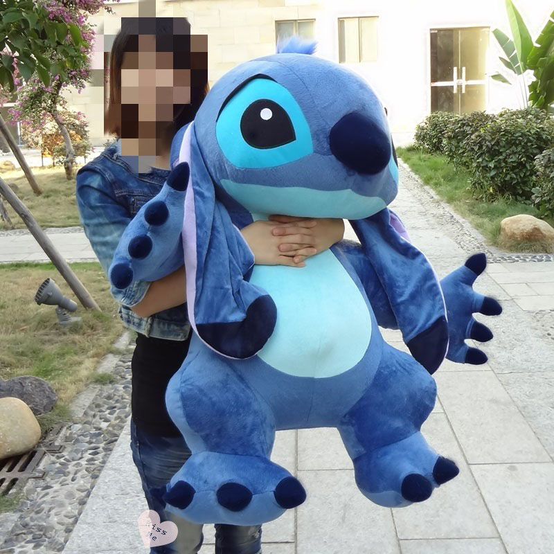 90cm Giant Plush Large No Filling Big Soft Toys Lilo Stitch No Stuffed Stich Empty Skin Baby Unfilled Animal Doll Birthday Gift