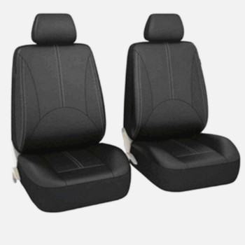 Universal Leather Car Seat Cover Full Seat Covers Auto Interior Styling Fit for Hyundai Sonata Elantra Genesis BMW Toyota image