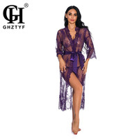 Erotic Underwear Women Sexy Nightwear Transparent Robe Porno Plus Size Babydoll Sex Long Dress Lace Bielizna Clothes
