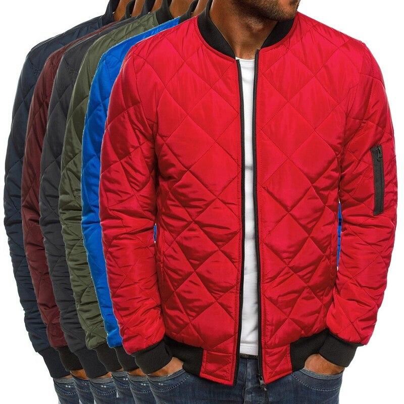2019 Autumn Winter Jacket Men Warm Coats Streetwear New Male Lightweight Windproof Packable Jacket hip hop baseball Coat Outwear