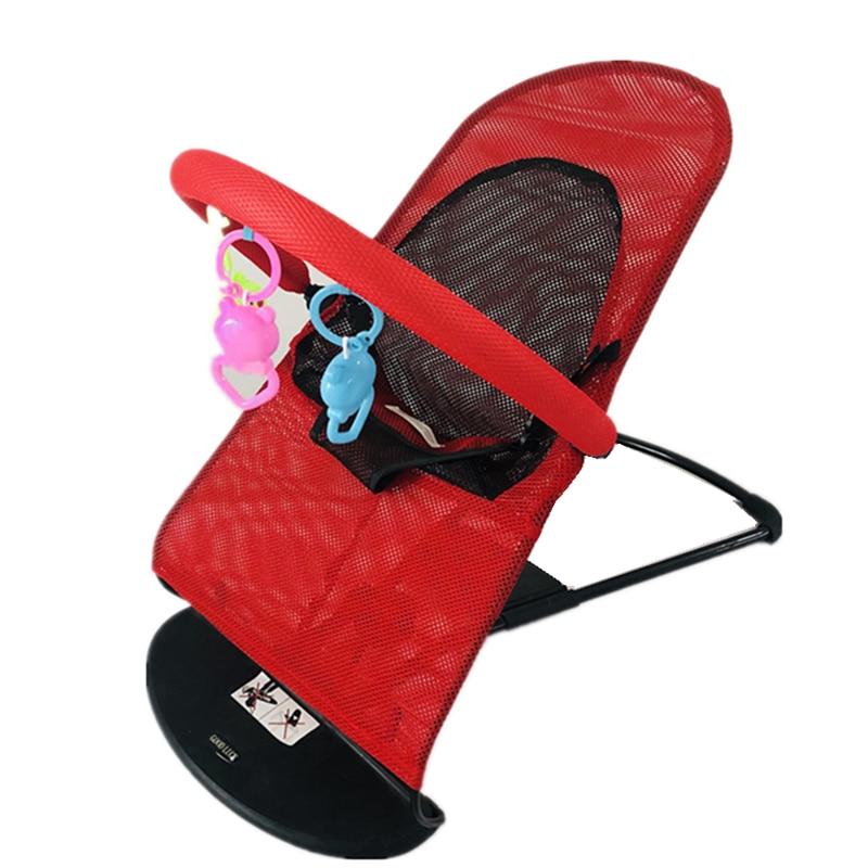 Baby Cradle Baby Rocking Chair Children's Lounge Chair Indoor Cradle Summer Baby Comforting Rocking Chair