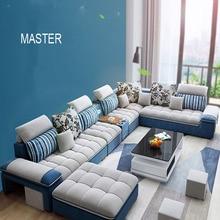 Fabric Sofa Living-Room-Furniture Customiezd-Color Hot-Sale High-Quality