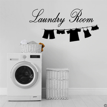 Wall Decal Sticker Vinyl Art Lettering Laundry Room wall Decoration Wall Mural Removable Wallpaper PW243 недорого