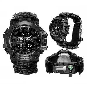 Image 5 - Addies Military Watch con Bussola Uomini Tendono Impermeabile Whistel Cronometro Sveglia Sport orologio Digitale Orologio Da Polso montre homme