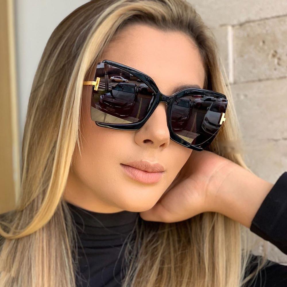 Brand Designer T Sunglasses 2021 New Oversized Square Women Sun Glasses Female Big Frame Colorful Shades fpr women Oculos