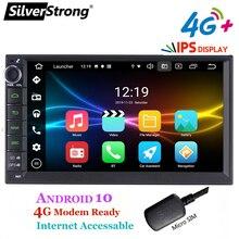 Универсальная Автомобильная Мультимедийная система SilverStrong, Android 10, 1Din, 7 дюймов, dvd, радио, Bluetooth, GPS навигация, автомобильная стерео, MirrorLink 707M3