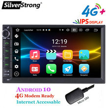 "SilverStrong, Android10, 1Din 7 ""אוניברסלי לרכב dvd רדיו מולטימדיה, Bluetooth GPS ניווט, סטריאו לרכב, mirrorLink 707M3"