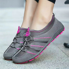 2019 summer and autumn women's flat bottom breathable fashion set of light women's shoes