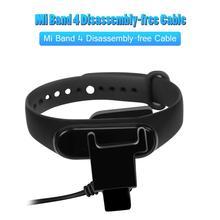Xiao mi mi bant 4 sökme ücretsiz şarj adaptörü şarj standı kablo kordonu 20cm USB geri klip şarj cihazı bileklik aksesuarları