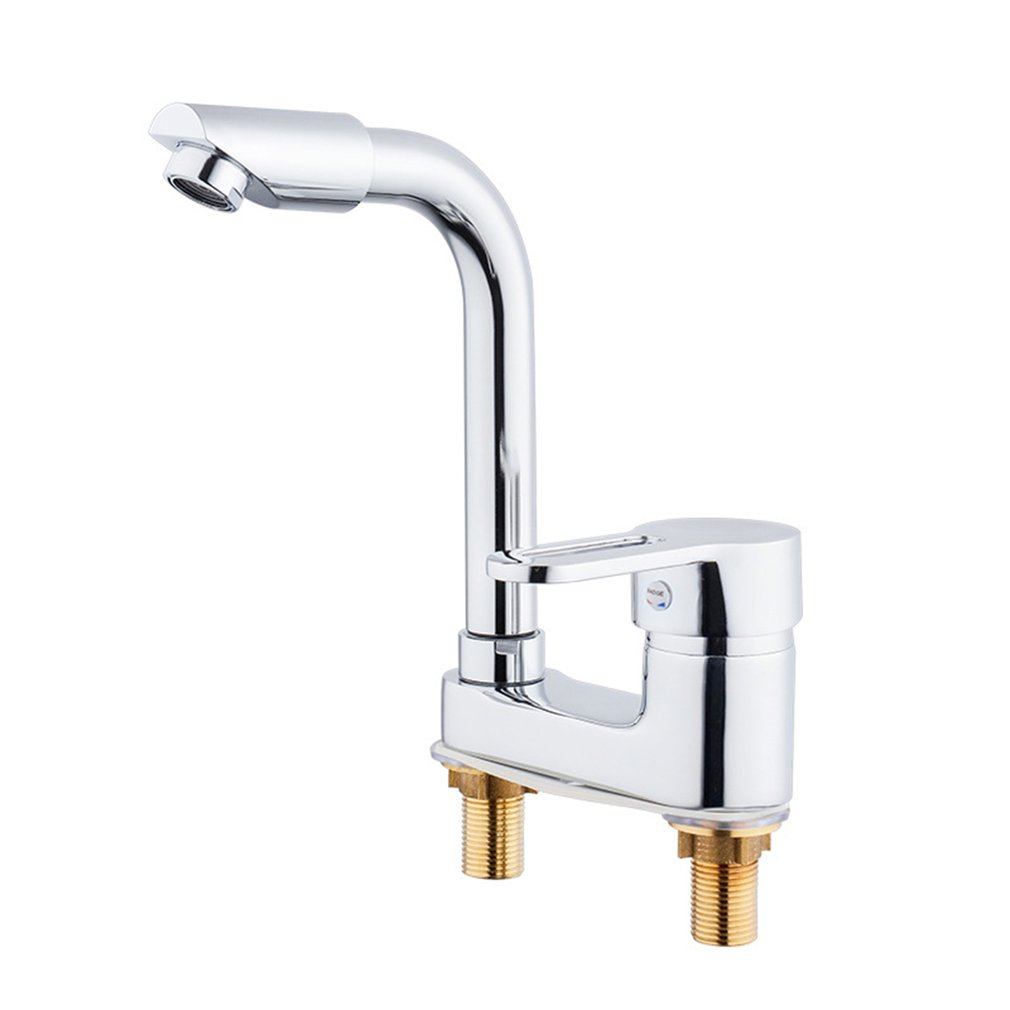Double Hole Kitchen Instant Heating Faucet Rotatable Hot & Cold Dual-use Fast Heating Tap Water Valve