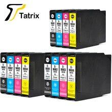 Tatrix do Epson T9081 T9082 T9083 T9084 wkład atramentowy T9071 BK/C/M/Y do drukarki Epson WorkForce Pro WF-6090DW 6590DWF