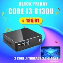 Topton Pocket Mini Computer Intel Core i5 8250U i3 8130U i7 7567U Silent Copper Cooling Fan Mini Pc Win 10 4K HTPC WiFi HDMI VGA