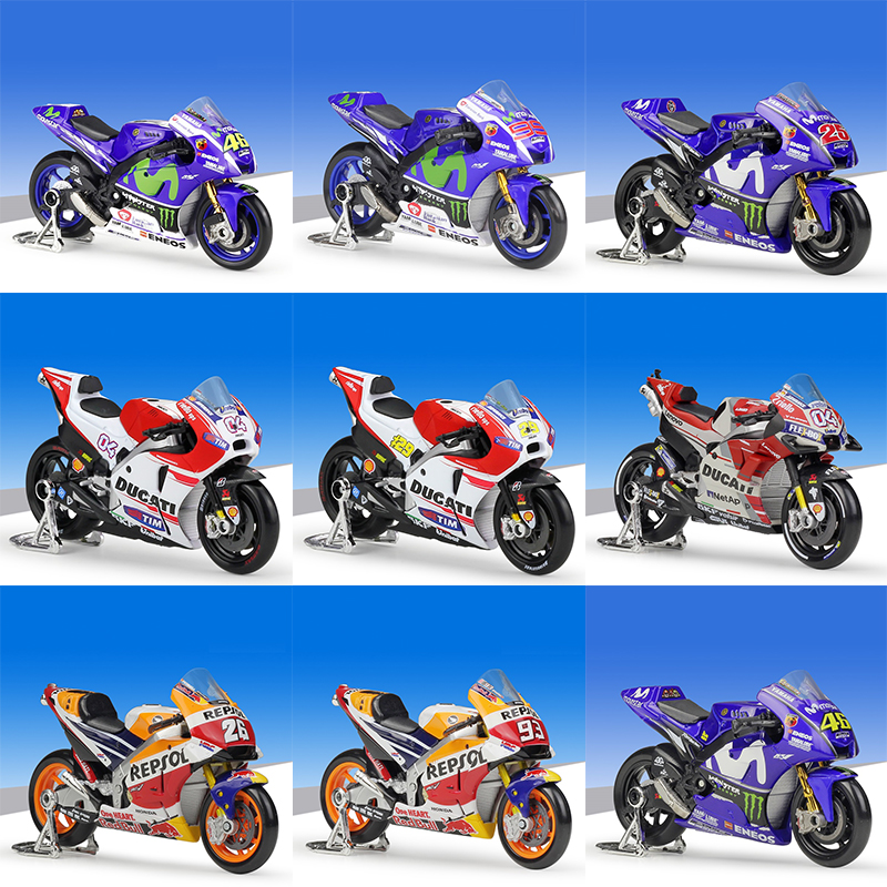 1:18 Maisto 2018 YAMAHA YZR M1 #46 V.Rossi Ducati GP18 #04 Andrea Honda Repsol RC213V #93 Marquez Racing Diecast Motorcycle