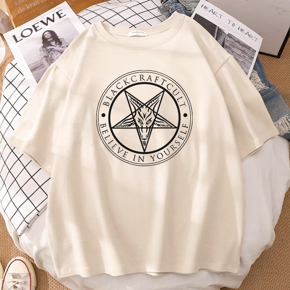 Black Craft Cult Believe In Yourself Printing T Shirts Men Tshirt Hip Hop Casual T-Shirt Fashion Harajuku Japanese Anime Tshirt