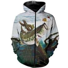 Tessffel New Fashion Animal Fishing Art Colorful Casual Tracksuit 3D full Print Hoodie/Sweatshirt/Jacket/shirts Mens Womens S-14
