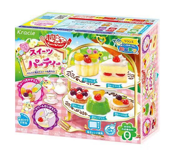 Kracie Popin Cook Candy Dough Toys.Pizza Birthday Cake Sushi Hamburger Mokolet Pop Spun Happy Kitchen Japanese Candy D0