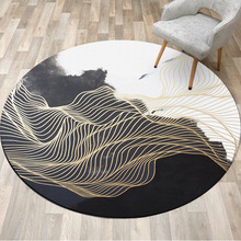 Round Carpet Coffee-Table Living-Room Luxury Rugs Large Non-Slip Home-Decor Fashion