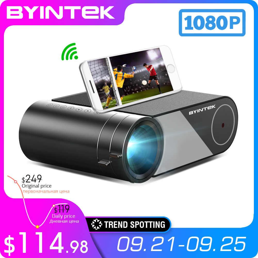 LED Proyector de vídeo portátil BYINTEK K9 Mini 1280x720P Proyector para Cine 1080P 3D 4K (opción Multi-pantalla para Iphone