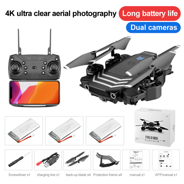 RC Drone 4K With camera HD Wifi fpv Mini Foldable Dron Helicopter Professional Quadcopter Selfie Drones Gifts Toys for boys