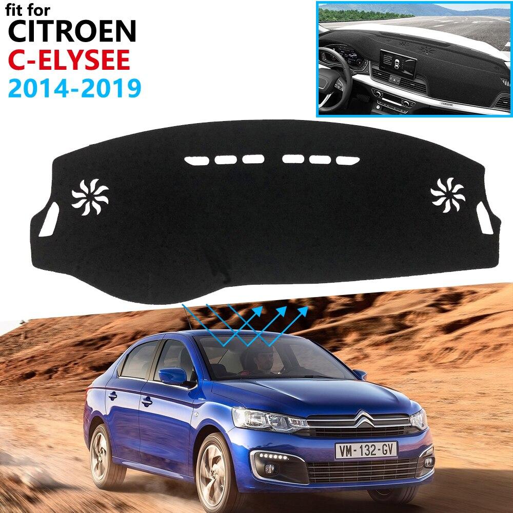 Dashboard Cover Protective Pad For Citroen C-Elysee 2014~2019 Car Accessories Dash Board Sunshade Carpet C Elysee 2016 2017 2018
