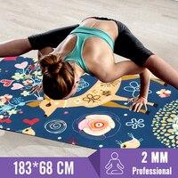 Suede Yoga Mat Non slip Gym Mat For Gym Fitness Sports Yoga Pilates Exercise Yoga Mats Natural Rubber Ultralight 183cmx61cmx2mm