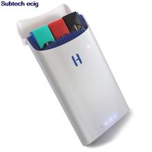 COCO USB ładowarka E papieros połączenie magnetyczne ładowarka USB Power banku 1500mah dla przenośny długopis Vape wózek kapsułek JUUL zestaw startowy tanie tanio SUB TWO Wyjście USB for JUUL Pods COCO USB Charger black white 110*60 7*14 9mm 150g Micro USB Charging for Juul