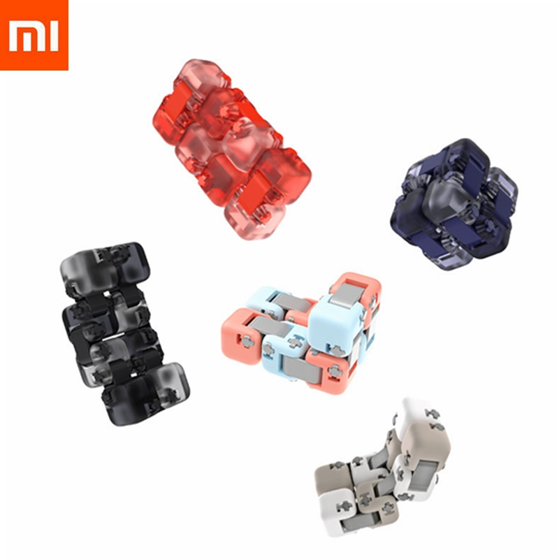 New Xiaomi Mijia Mitu Spinner Colorful Building Blocks Finger Fidget Decompression Toy Puzzle Assembling Cube Finger Spinner Toy