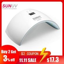 SUNUV SUN9x Plus 36W Лампа для ногтей УФ лампа Сушилка для ногтей для УФ геля LED Гель для ногтей Машина Инфракрасный датчик Тай