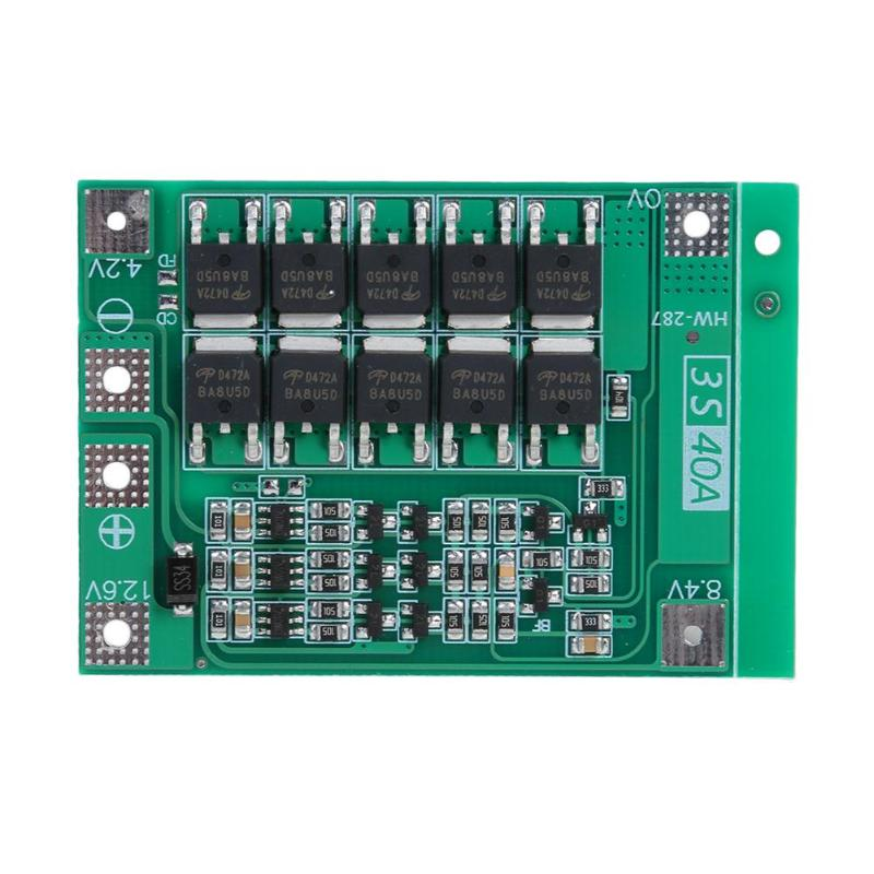 12.6V 40A Lithium Battery 18650 Charger PCB BMS Protection Board with Balance for SONY VTC4, VTC4A, VTC5A, VTC6 image
