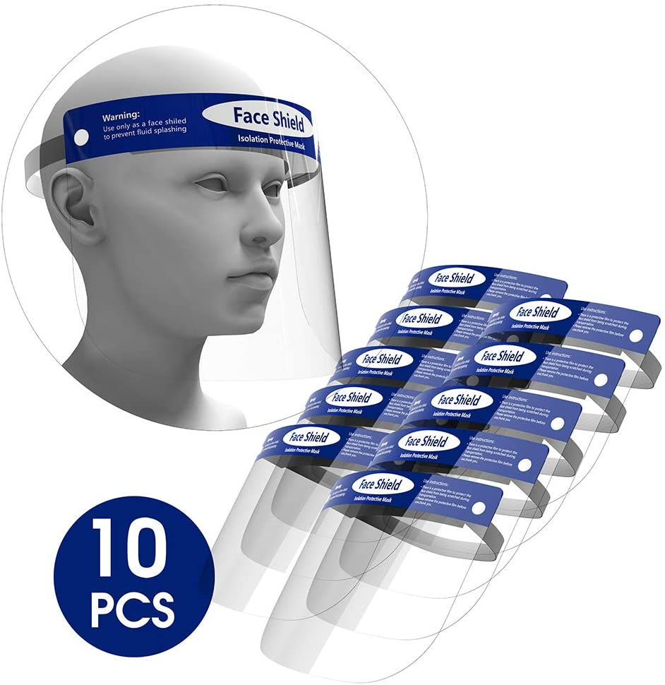 Unisex Face Shileds Protection Cover Transparent Protection Unisex Cover Clear Eye Dust Facial