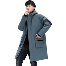 2019 New Men #8217 s Winter Jacket Long Men #8217 s Coat with Zipper Hooded Male Coats High Quality Man Winter Brand Clothing 908 cheap JUNGLE ZONE Thick (Winter) L1929 REGULAR Casual Full Solid Denim NONE Button Pockets Zippers Appliques Polyester Acetate