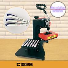 Pen Heat Printing Machine Hot Transfer Printing Machine Press Machine For Plastic Ball Point Pen Logo Pressing Machine cheap QCPRINTINART C1002S