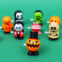 Zombie Vampire Ghost Pumpkin Halloween Christmas Toys with chain eyes jumping teeth and jumping teeth retro vintage toys wind up halloween chain clockwork toy ghost frankenstein vampire capsule funny joke prank wind up jumping walking toys kid gifts jm305