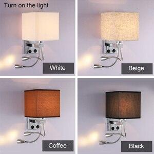 Image 2 - 5 ألوان الحديثة موجز السرير 1/2 رئيس 3 واط وحدة إضاءة led جداريّة مصابيح السباكة خرطوم الروك الذراع القراءة جدار الإضاءة النسيج ZBD0014