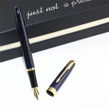 student luxury blue Fountain Pen standard Nib School Office metal Ink Pens Stationery business gift