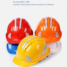 Strip Safety-Helmet Ratchet-Suspension Hard-Hat Construction-Worker Reflective for Cap-Style