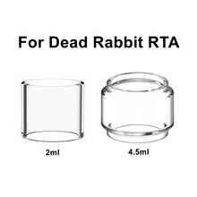 Replacement Pyrex Bubble Glass Tube Tank For Dead Rabbit RTA Atomizer Coil Cotton Fatboy Glass Tube