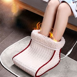 Winter Usb Electric Foot Warmer Switch Heater Timer Function Power Saving Safe Start Warm Foot Cover Feet Heating Pad Dropship