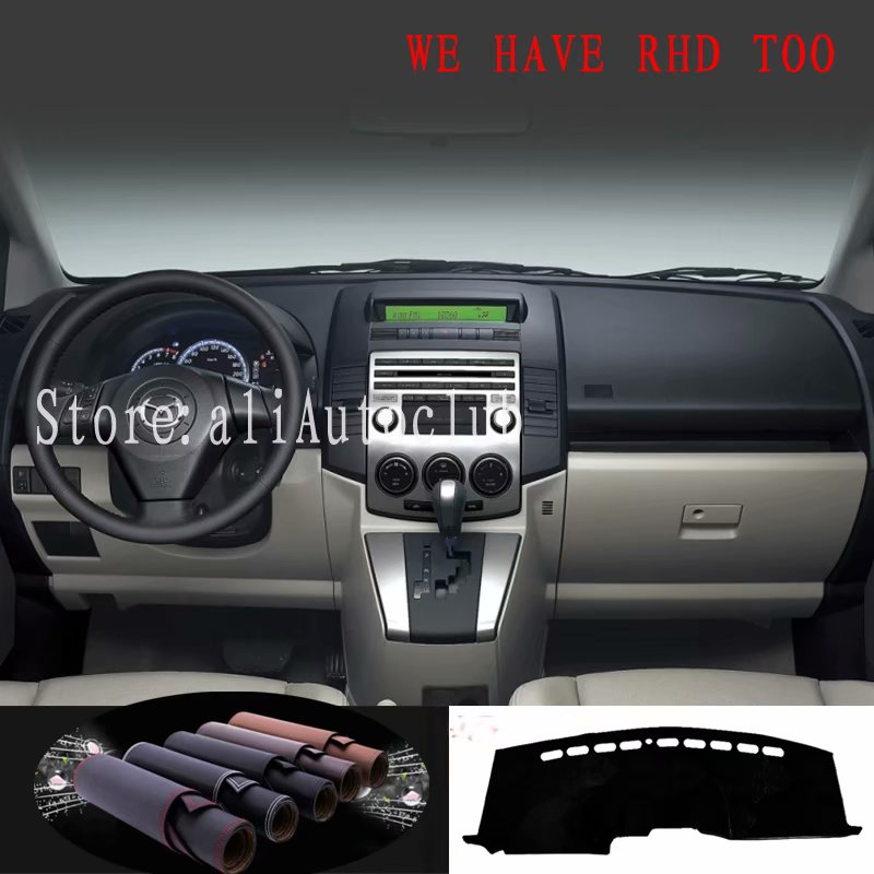 For Mazda5 Mazda 5 PREMACY Ford I-MAX 2005 2006 2007 2008 2009 Leather Dashmat Car Styling Cover Dash Mat Dashboard Cover Carpet