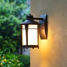 Современный европейский стеклянный светильник для двора коридора