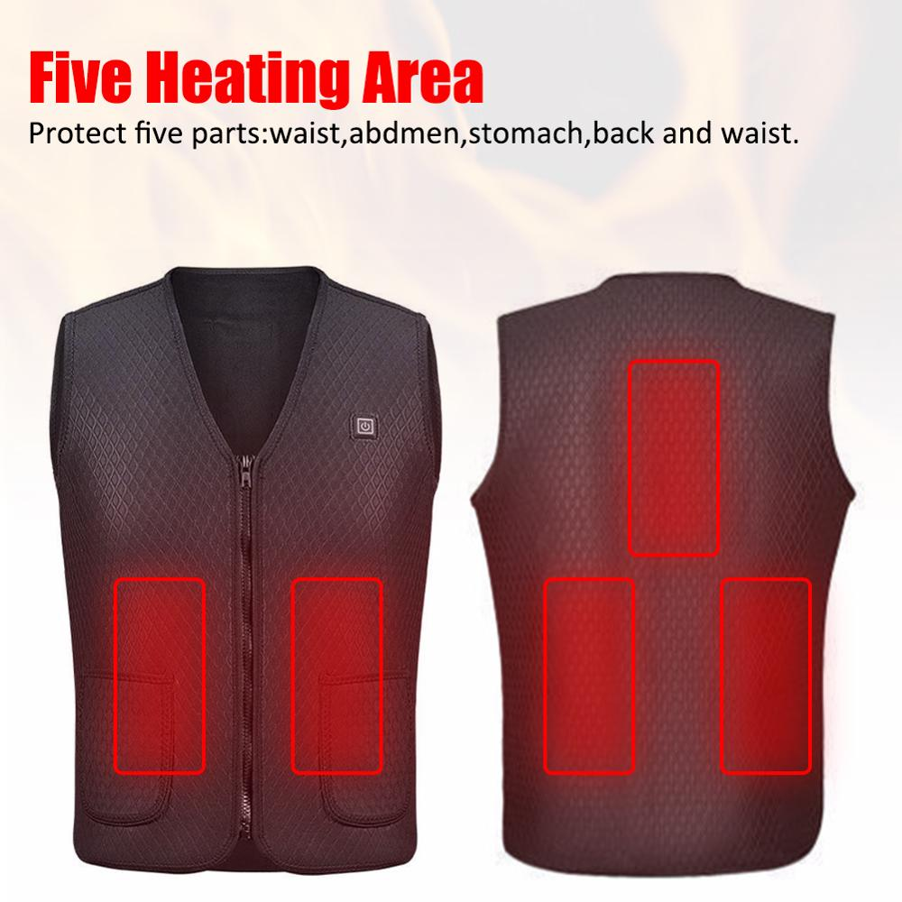Dropship USB Heated Hunting Vest Heating Winter Clothes Men Thermal Outdoor Sleeveless Jacket Vest For Hiking Climbing Fishing